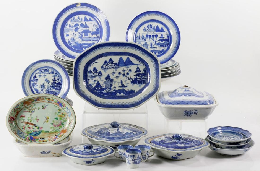 Lot of 19th C. Chinese Cantonware