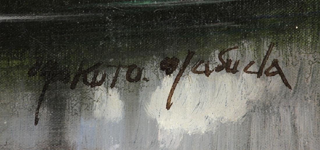 Jasuela, Waterfront Village, Oil on Canvas - 5