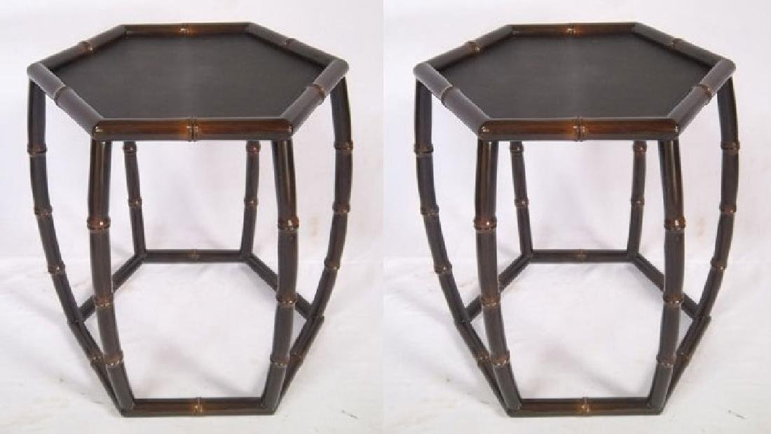 Pair of Octagonal Side Tables