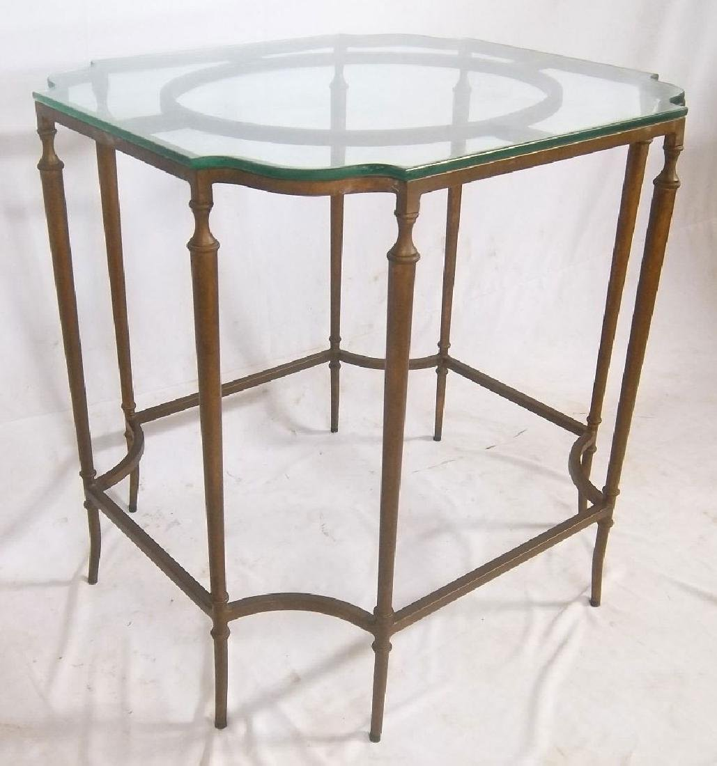 French Glass Top Table