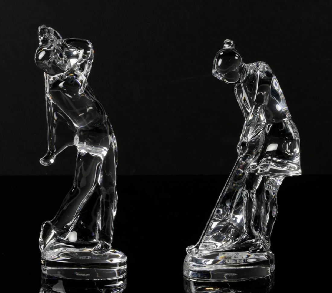 Pr. Baccarat Crystal Golfer Figures