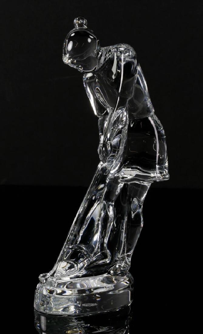Pr. Baccarat Crystal Golfer Figures - 2