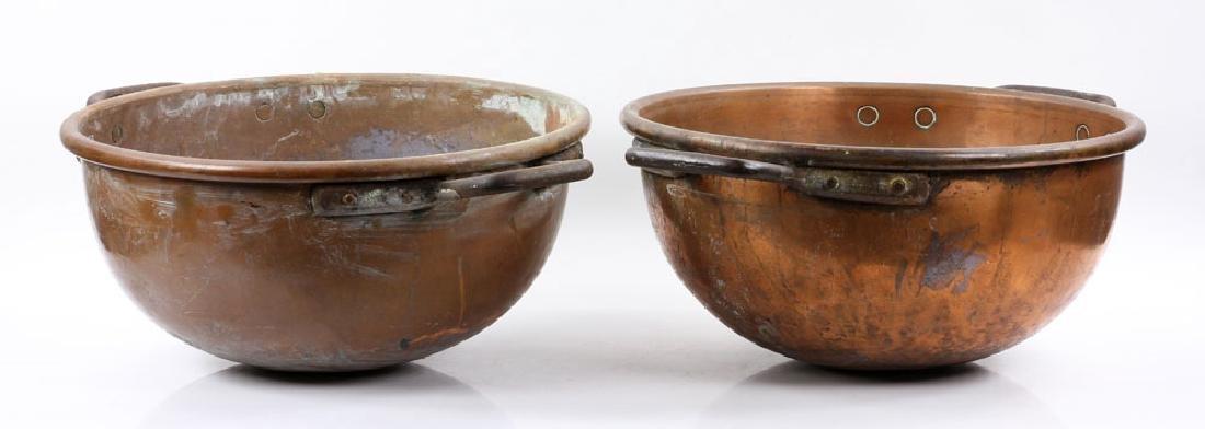 Pr. Copper Fudge Pots