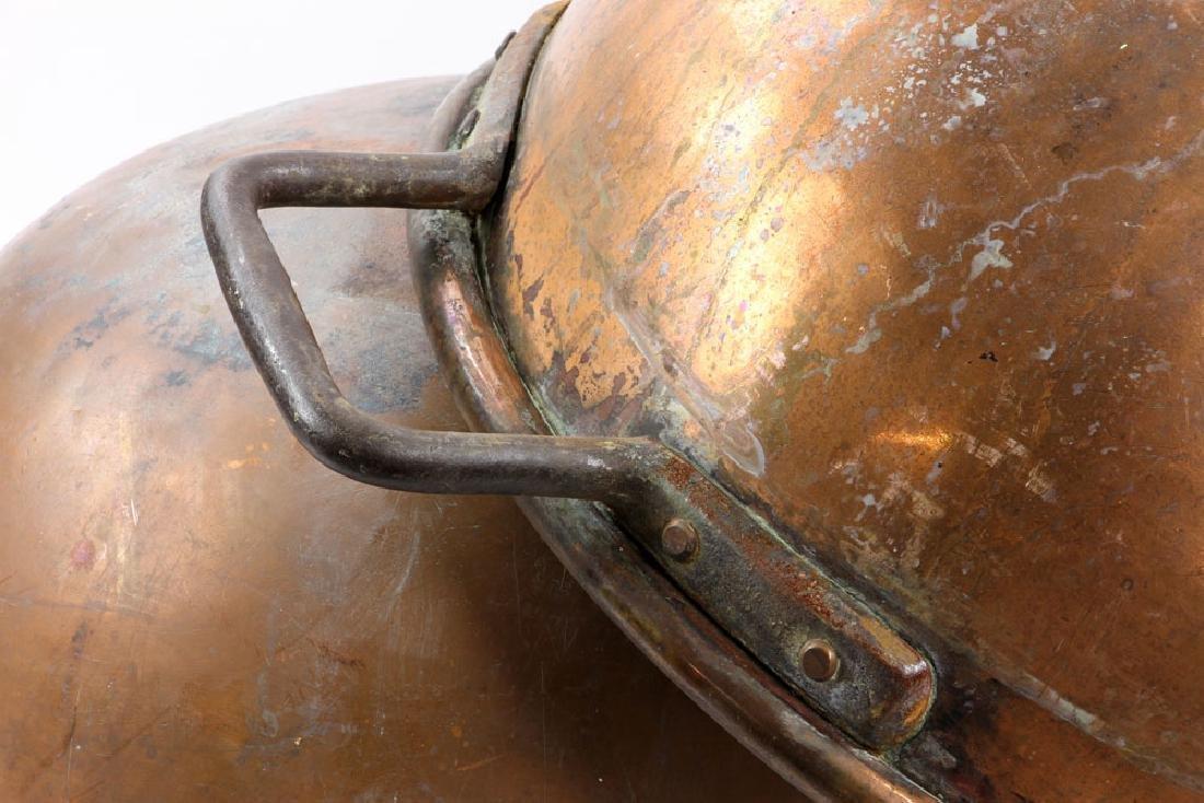 Pr. Copper Fudge Pots - 3