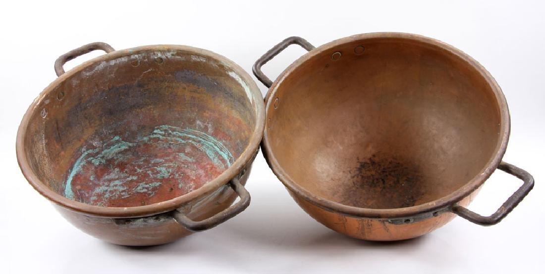 Pr. Copper Fudge Pots - 4
