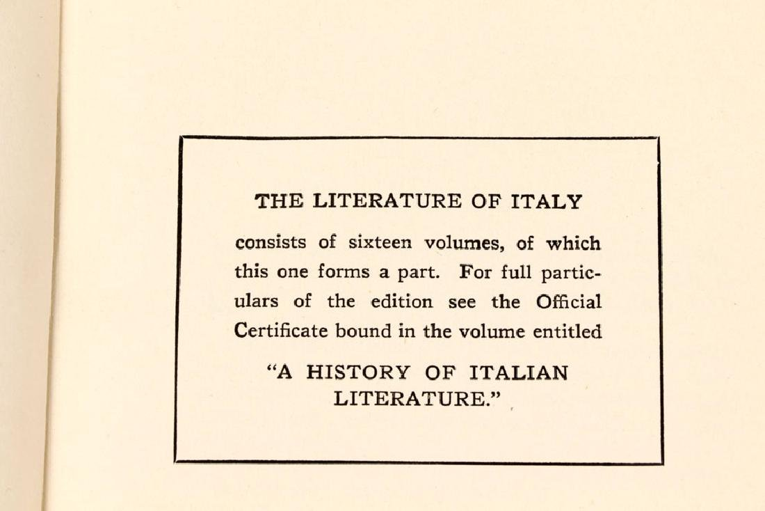 """Collection of """"The Literature of Italy,"""" Visconti - 7"""