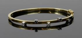 18K Gold, Diamond And Sapphire Bracelet