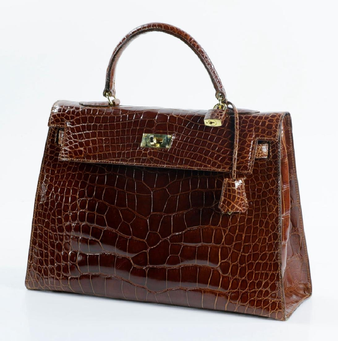 Hermes Style Kelly Sellier Crocodile Bag