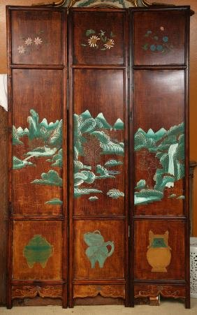 Chinese 3 Panel Privacy Screen