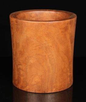 Chinese Huanghuali Wood Brush Pot