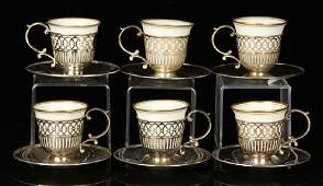 Set of Lenox Demitasse Cups and Saucers