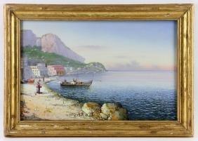 Gianni, Scene of Capri, Oil on Paper