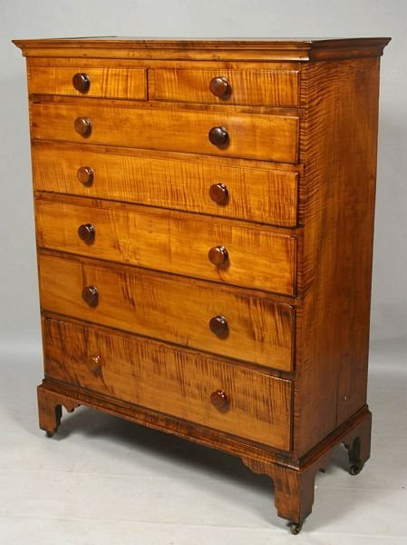 2017: 19th C. RHODE ISLAND CHIPPENDALE TALL CHEST