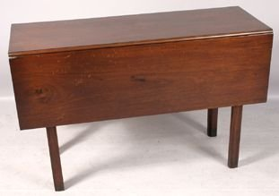 2019: 18TH C. CHIPPENDALE MAHOGANY DROP LEAF TABLE