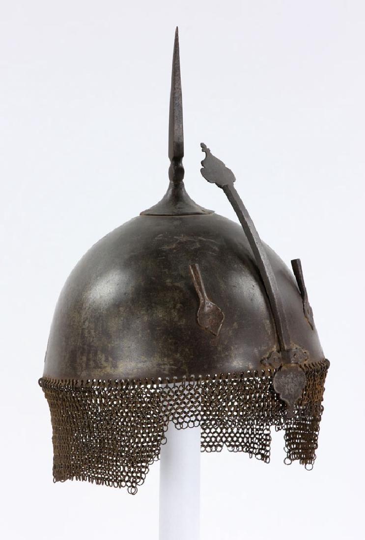 Early Iron Indo-Persian (Kulah Khud) Helmet - 2