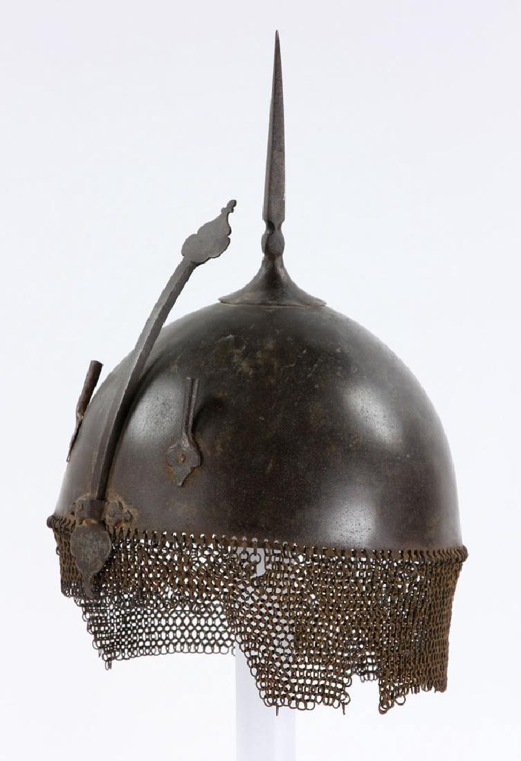 Early Iron Indo-Persian (Kulah Khud) Helmet - 3
