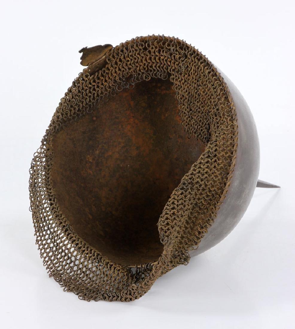 Early Iron Indo-Persian (Kulah Khud) Helmet - 5