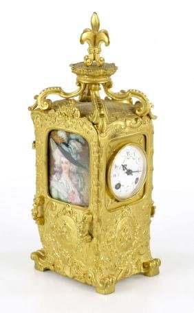 Carriage Clock with Two Miniatures