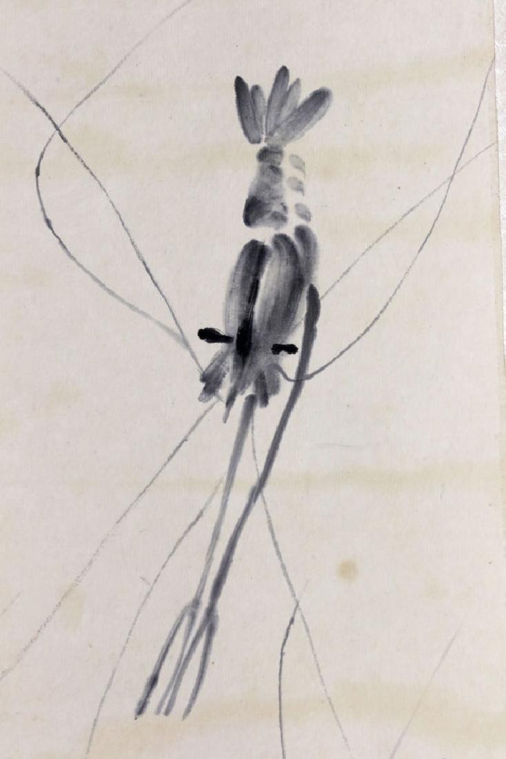 Signed Qi Baishi, Shrimps, Watercolor Scroll - 3