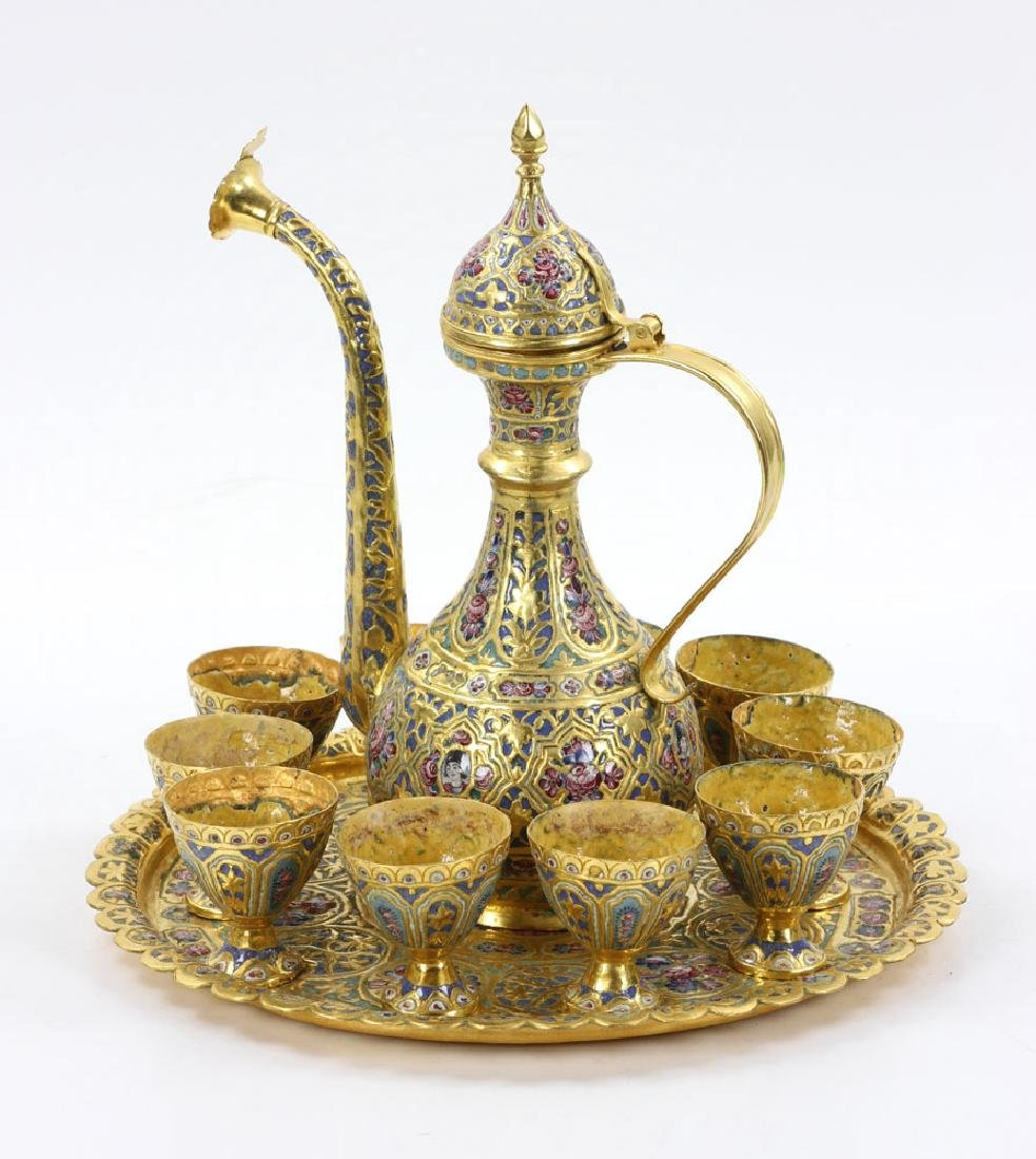 Qajar Enamel Liquor Set - 8