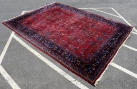 Antique Turkish Oriental Sarouk Carpet