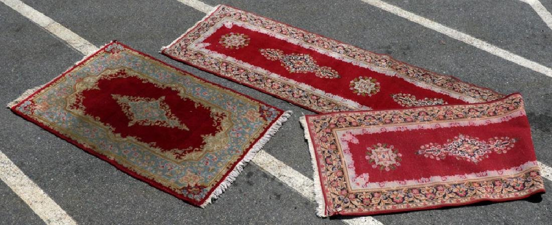 Antique Persian Kerman Runner and Scatter