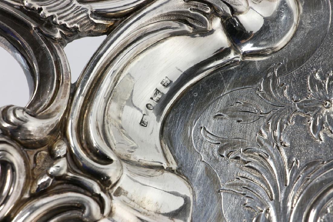 19th C. English Georgian Solid Silver Tray - 5