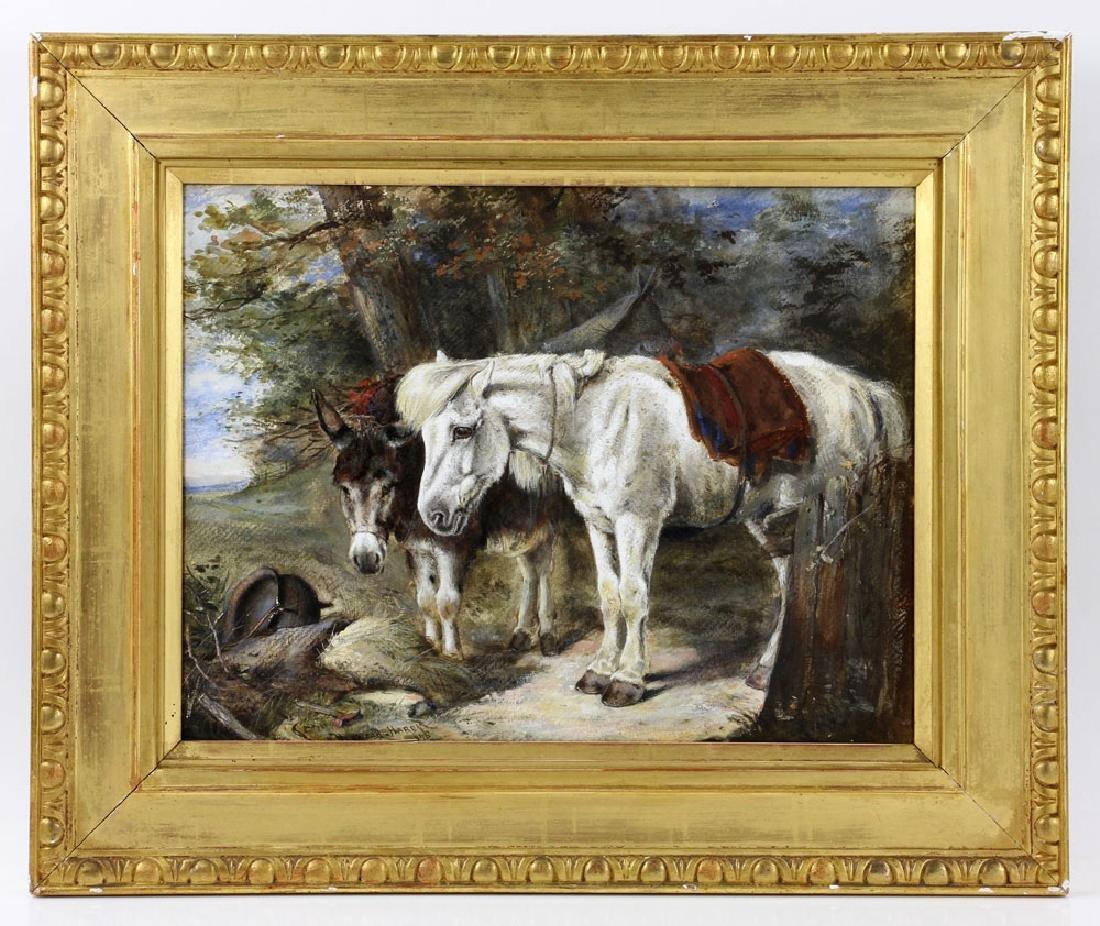 Hardy, Horse & Donkey, Oil on Canvas