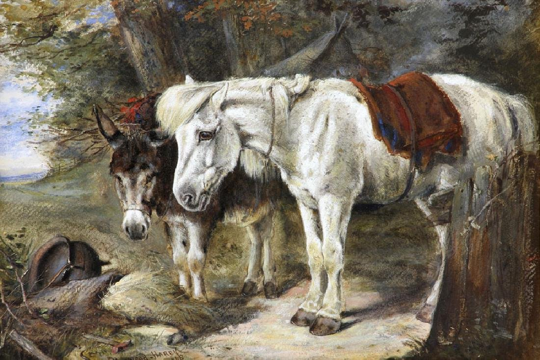 Hardy, Horse & Donkey, Oil on Canvas - 2