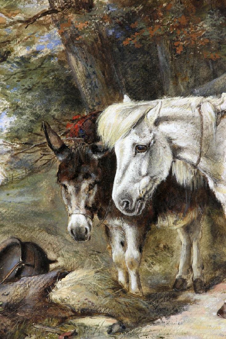 Hardy, Horse & Donkey, Oil on Canvas - 3
