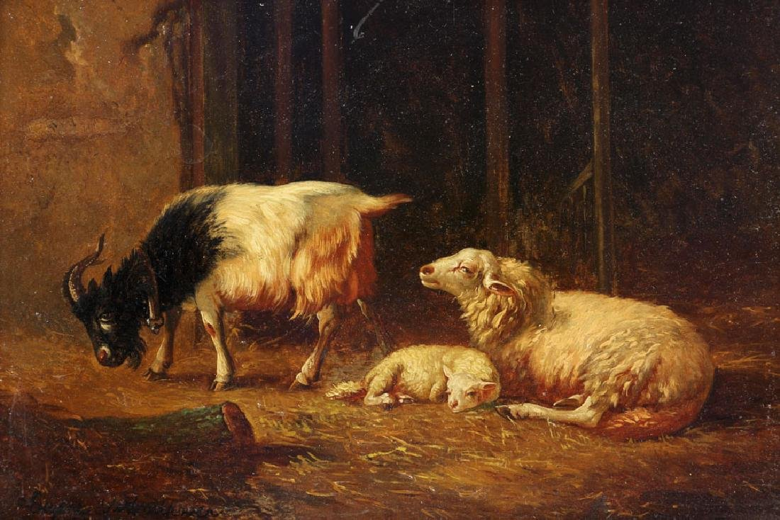Verboeckhoven, Sheep, Oil on Board - 3