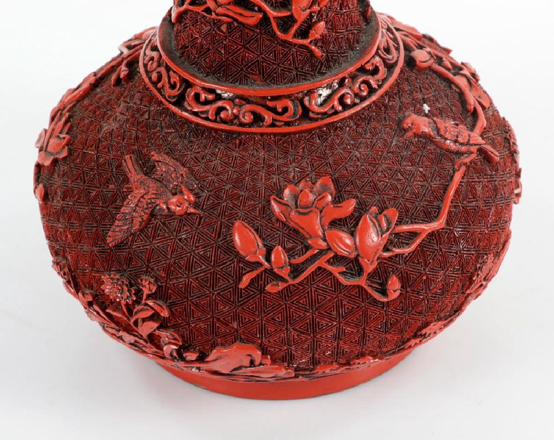 Two Red Lacquered Items - 4