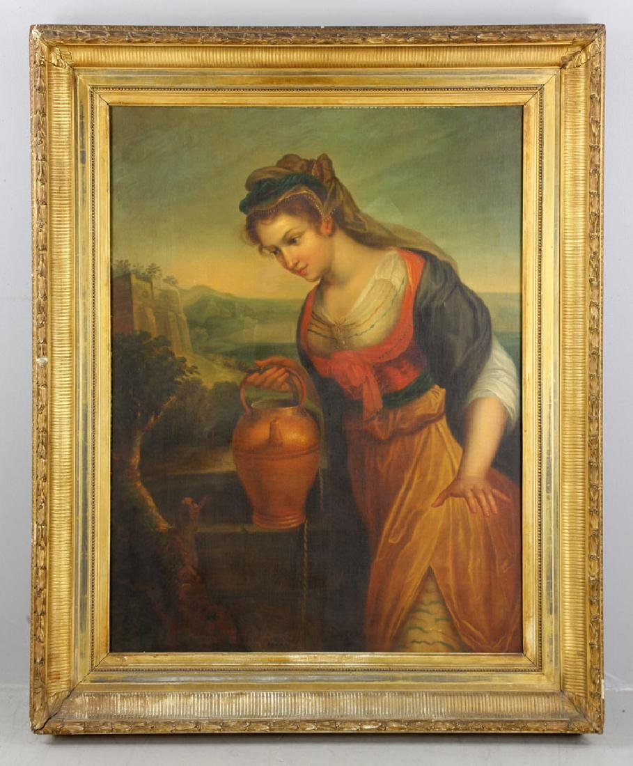 Rebecca at the Well, Oil on Canvas