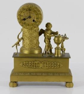 Bronze Dore Figural Clock