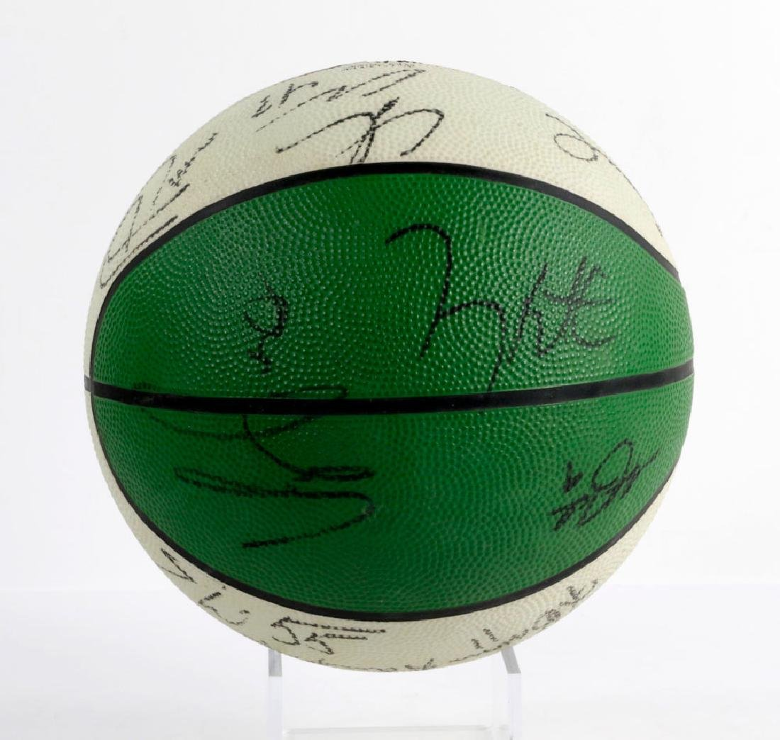 Signed Boston Celtics Basketball - 3