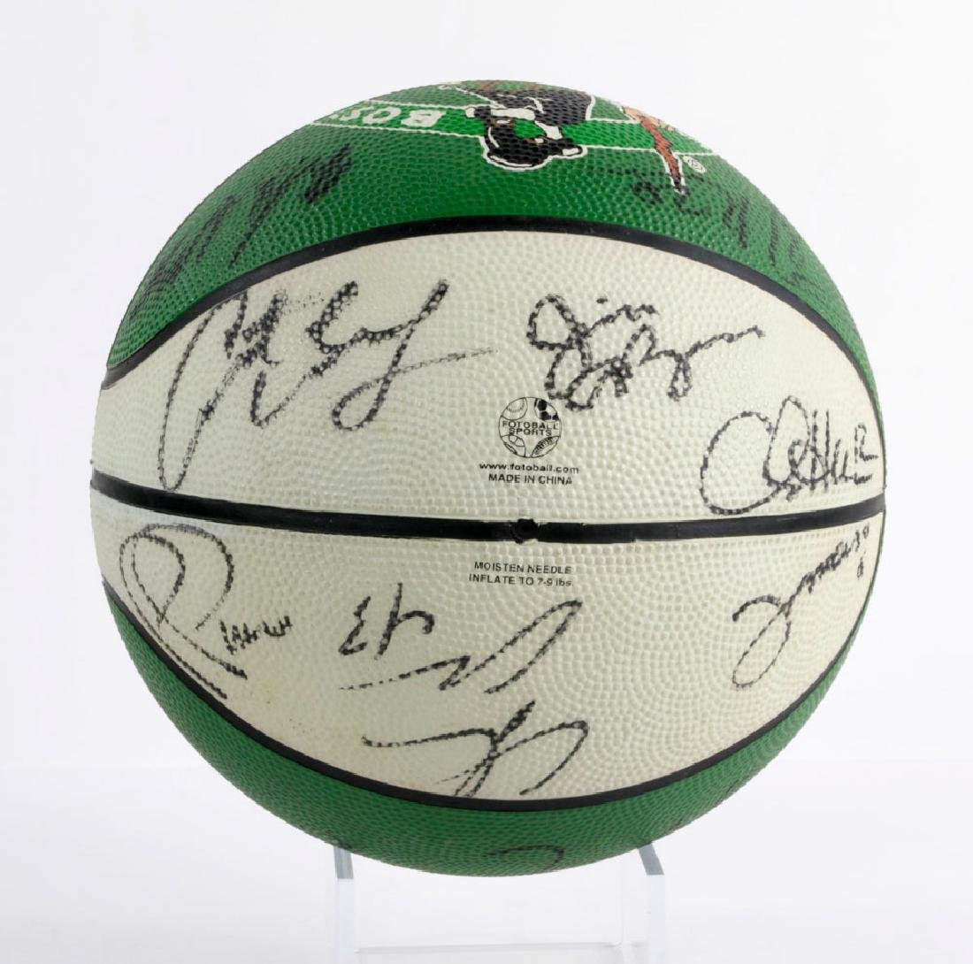 Signed Boston Celtics Basketball - 4
