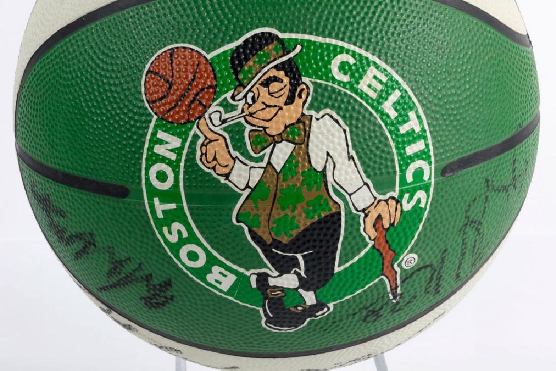 Signed Boston Celtics Basketball - 5
