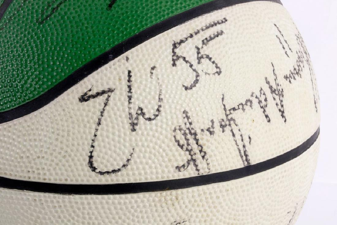 Signed Boston Celtics Basketball - 6