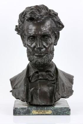 Signed Bust of Abraham Lincoln