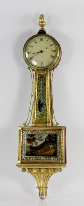 19th C. Boston Banjo Clock