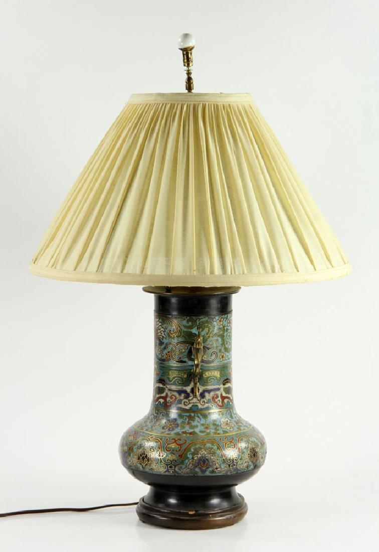Asian Cloisonne Lamp - 2