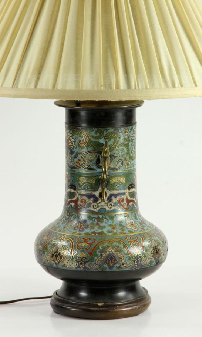 Asian Cloisonne Lamp - 3