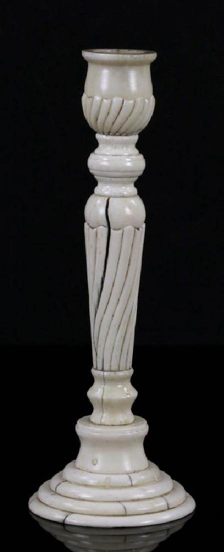 Pair of Bone Candlesticks - 2