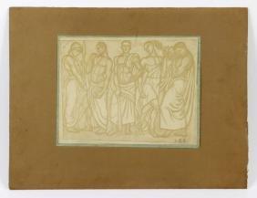 Woodblock Print of Fire Men