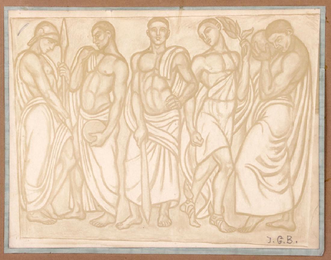 Woodblock Print of Fire Men - 2