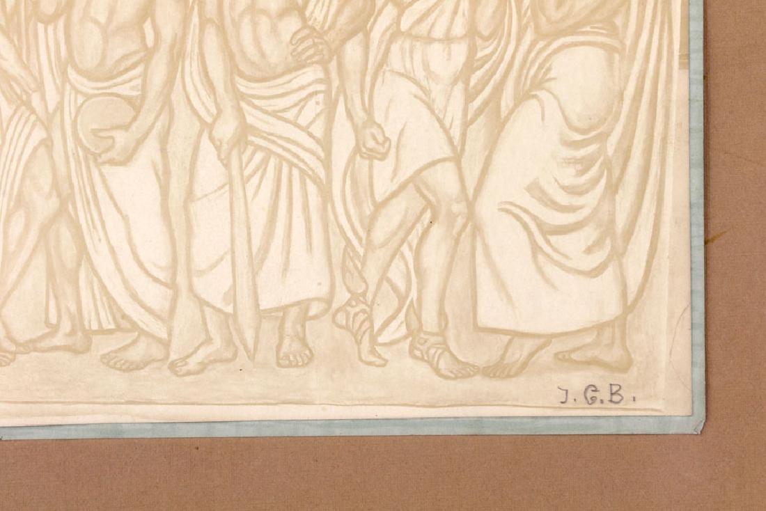 Woodblock Print of Fire Men - 3
