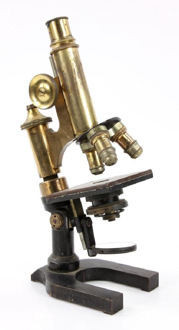 19th C. Brass Microscope - 3