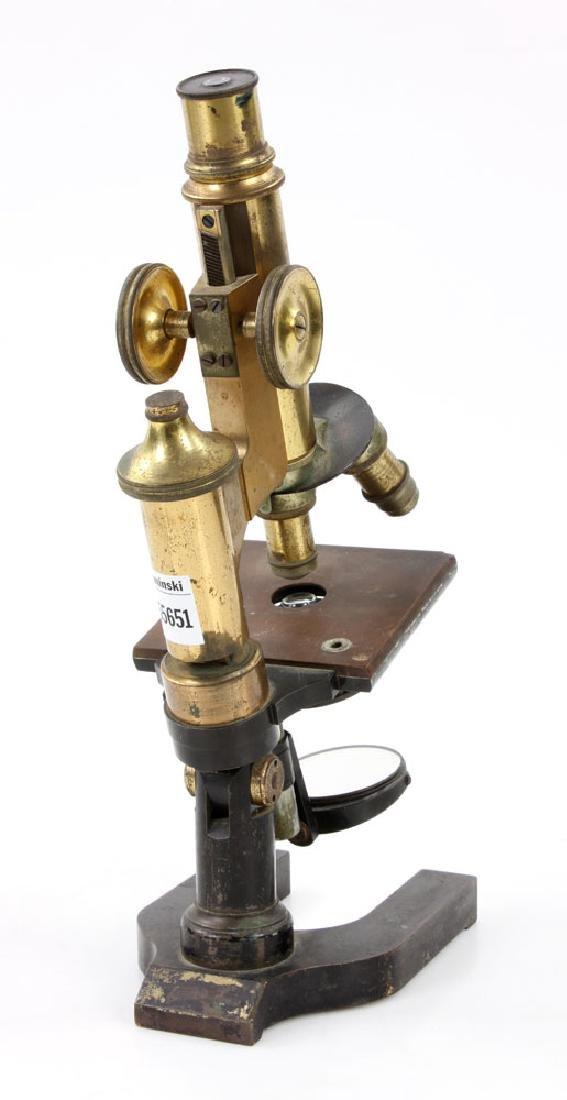 19th C. Brass Microscope - 4