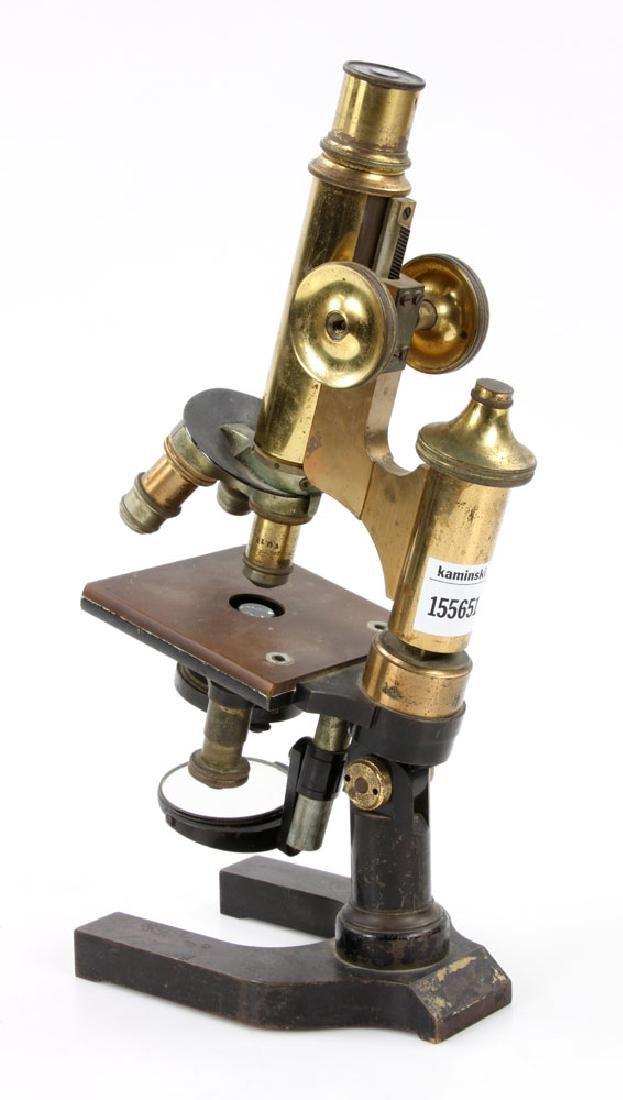 19th C. Brass Microscope - 5
