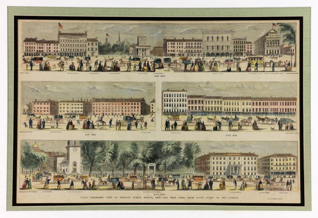 Panoramic View of Tremont St. Boston, Engraving - 2
